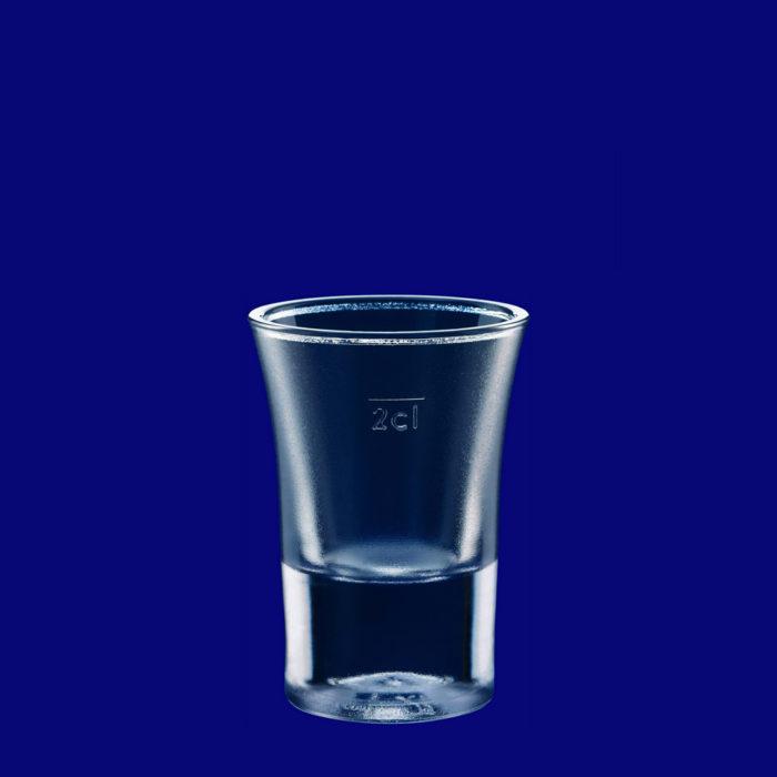 Plastový kelímek štamprle cl SAN matný