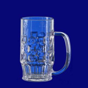 Plastový vratný krýgl na pivo l SAN s uchem