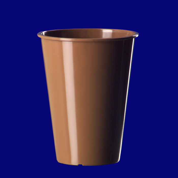 Vratný kelímek na kávu l PP hnědý